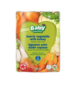 Baby Gourmet Combos Savoureux Legumes avec dinde copieux.