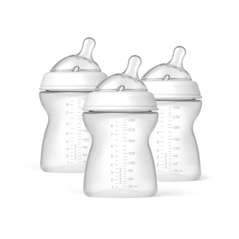 Chicco NaturalFit Tri-Pack 8 oz. Bottles 2 Months+