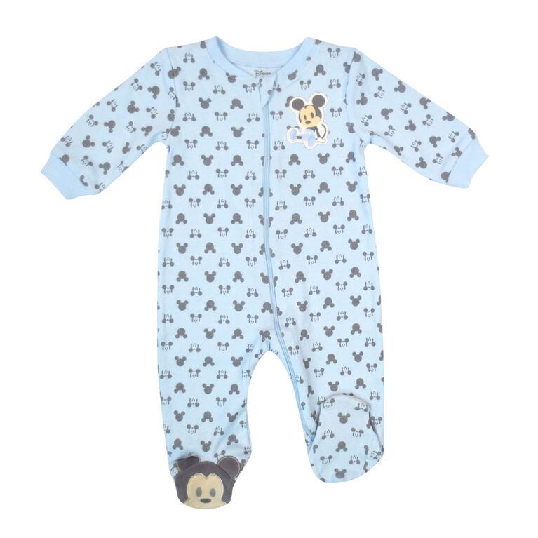Disney Mickey Mouse 1-Piece Sleeper - Blue, 9 Months
