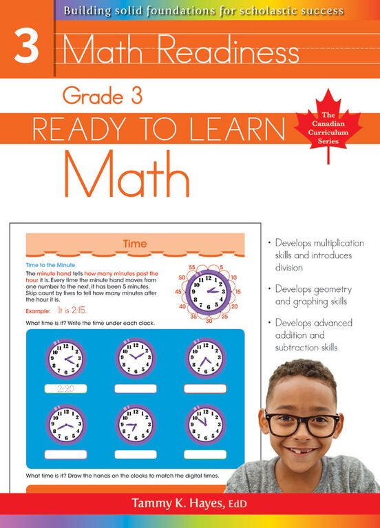 Grade 3 - Ready To Learn Math - Édition anglaise