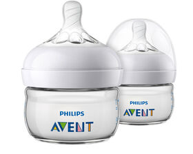 Philips Avent Natural Baby Bottle, 2oz, 2-Pack - Clear