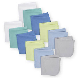 Koala Baby 12-Pack Washcloth, Blue Variety