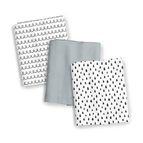 Summer Infant SwaddleMe Muslin Blankets - Black and White