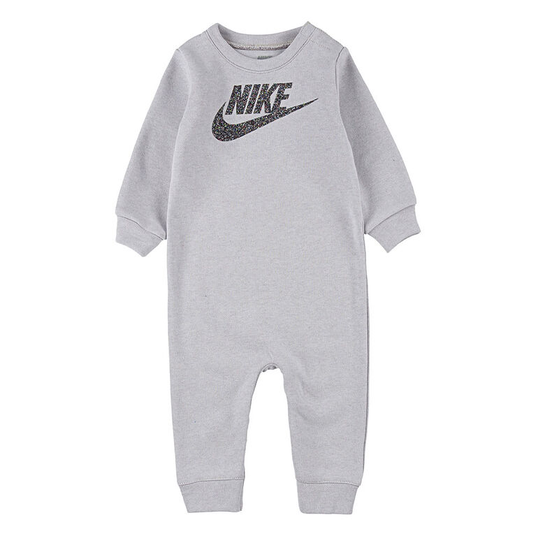 Nike Coverall -N- Multi Heather Grey, Size 0-3 Months