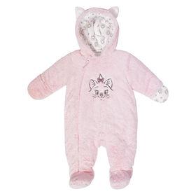 Disney Marie faux fur pramsuit - pink, 0-3 Months