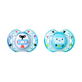Tommee Tippee 2-Pack 0-6 Months Fun Style Pacifier - Blue