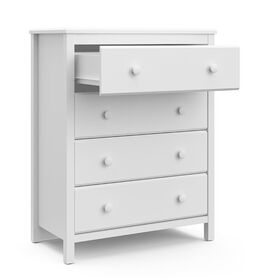 Storkcraft Alpine 4 Drawer Dresser - White||Storkcraft Alpine 4 Drawer Dresser - White