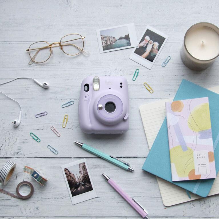 Ensemble d'appareil instantané FUJIFILM Instax Mini 11 - Violet lilas