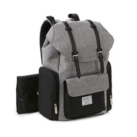 Eddie Bauer Places & Spaces Legend Backpack Diaper Bag - Grey Crosshatch