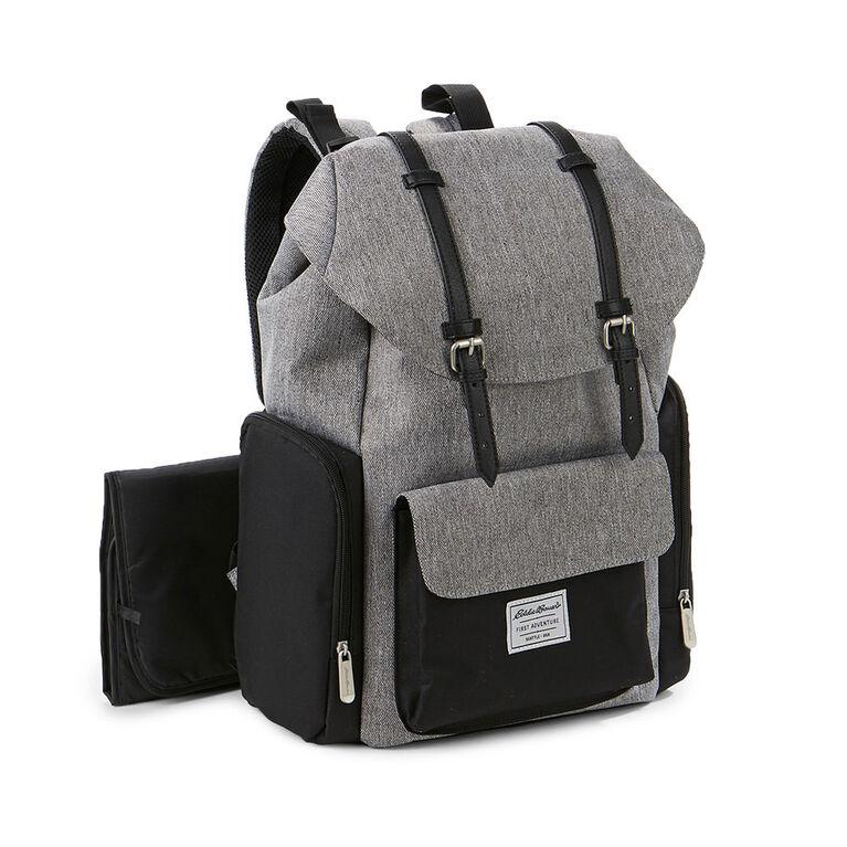 Eddie Bauer Places & Spaces Legend Backpack Diaper Bag - Grey Crosshatch