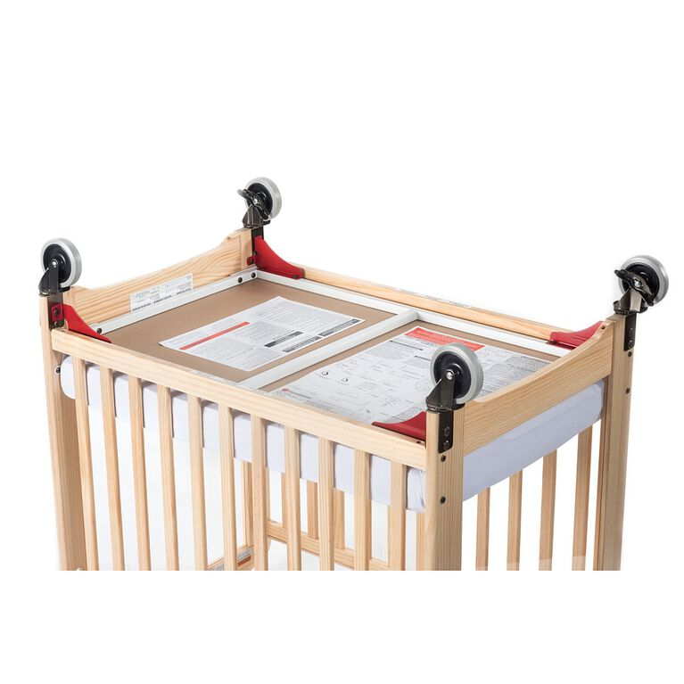 Foundations Next Gen First Responder Evacuation Compact Crib, Natural