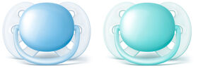 Philips AVENT Ultra Soft pacifier 0-6 Months, 2-Pack - Blue/Teal
