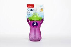 Playtex - Série En tout temps Emballage de 1 verre de 9 oz avec paille - violet.
