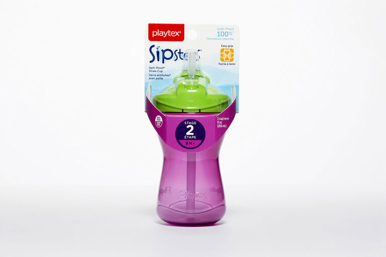 Playtex - Anytime Straw Cup 9 oz, 1-Pack - Purple