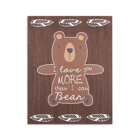 The Peanutshell Bear Wall Plaque