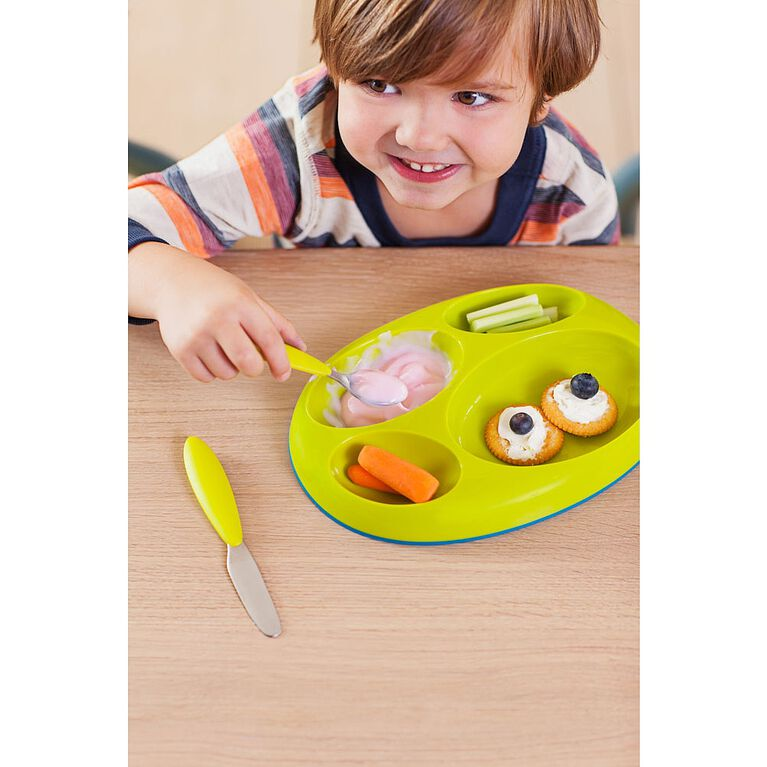 Boon Edgeless Nonskid Divided Plate