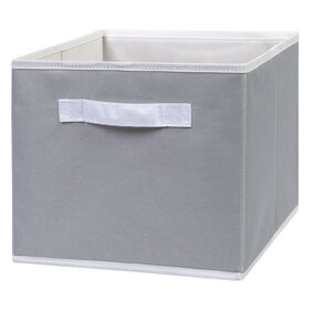 Gray Canvas Storage Bin
