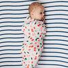 Red Rover - Cotton Muslin Crib Sheet - Navy Stripe - R Exclusive
