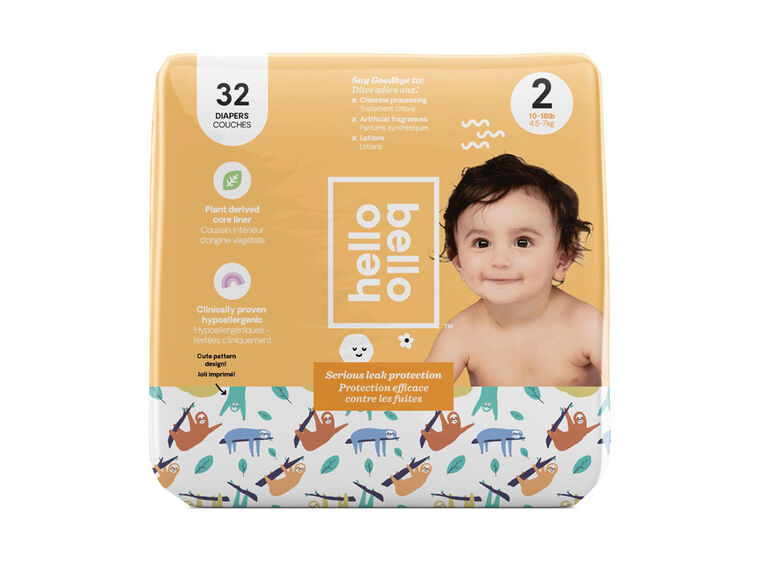Hello Bello - Jumbo Diaper Sleepy Sloth - Size 2
