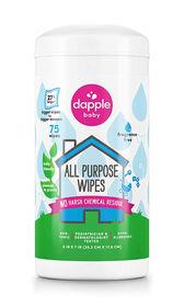 Lingettes nettoyantes tout usage Dapple, sans parfum, 75ct