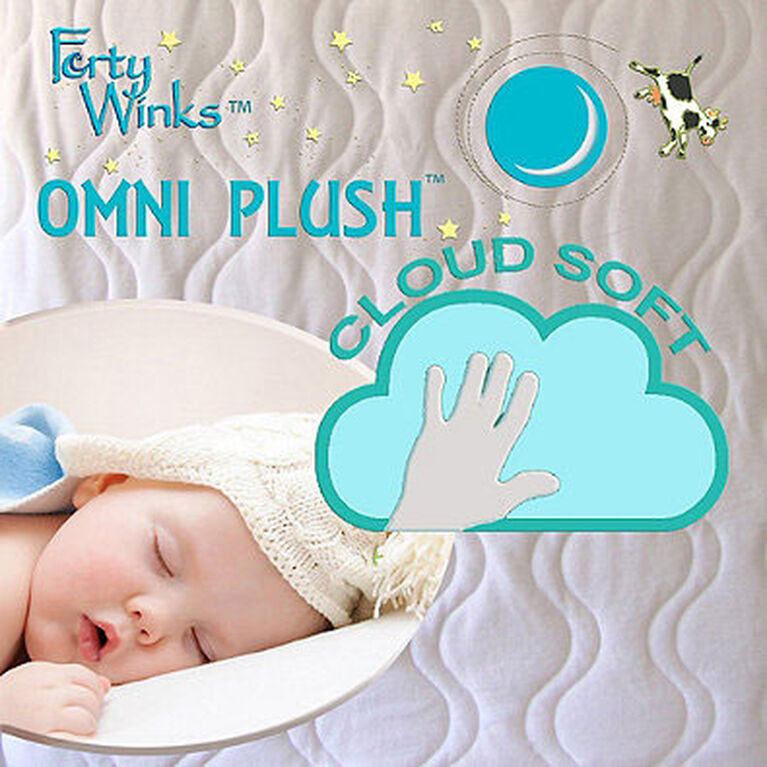 Forty Winks - Organic Cotton velour Quilted Waterproof, breathable crib mattress cover - Cream