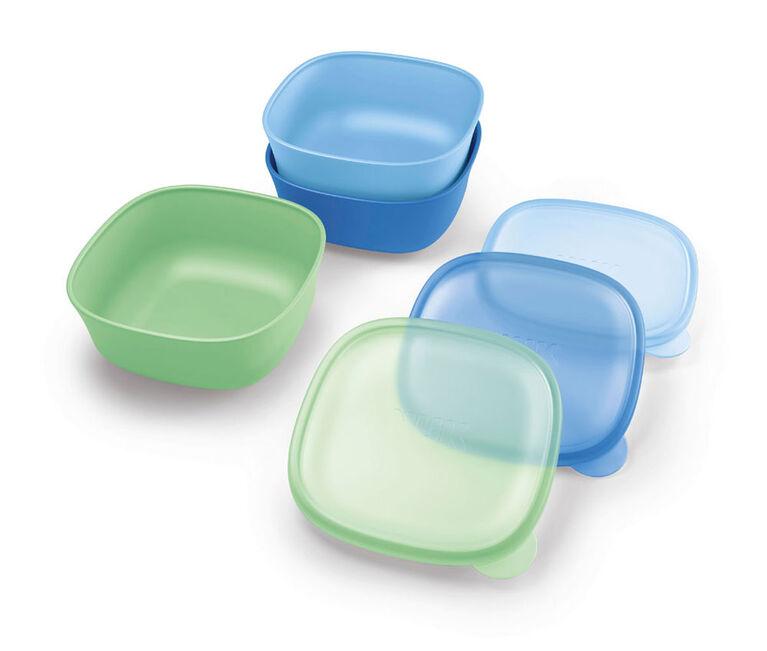 NUK Stacking Bowls 3Pack - Blue/Green