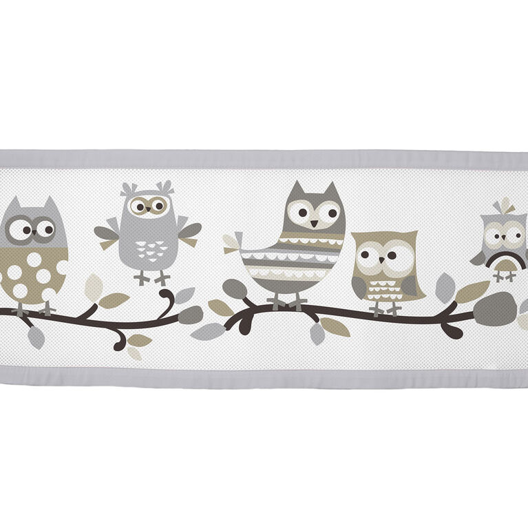 Breathable Baby Crib Liner - Owl