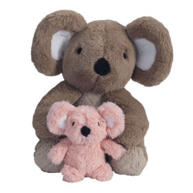 Koalas en peluche roses/gris Lambs & Ivy Calypso – Fuzzy et Wuzzy