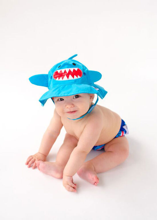 Zoocchini - Swim Diaper & Hat Set - Shark - Large