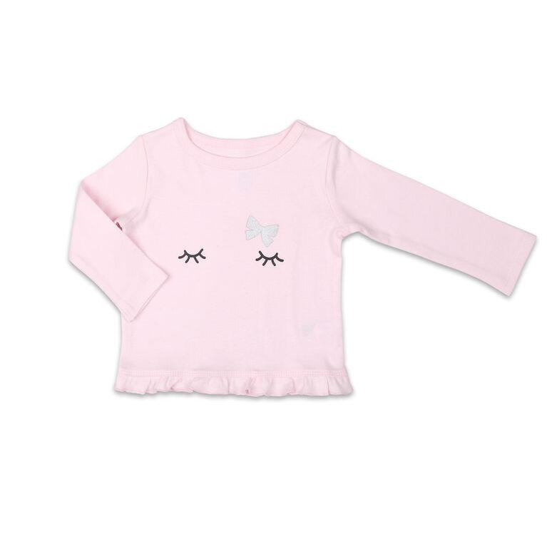 Ensemble chemise et pantalon Koala Baby Tiny Dancer, rose/gris - 3-6 Mois