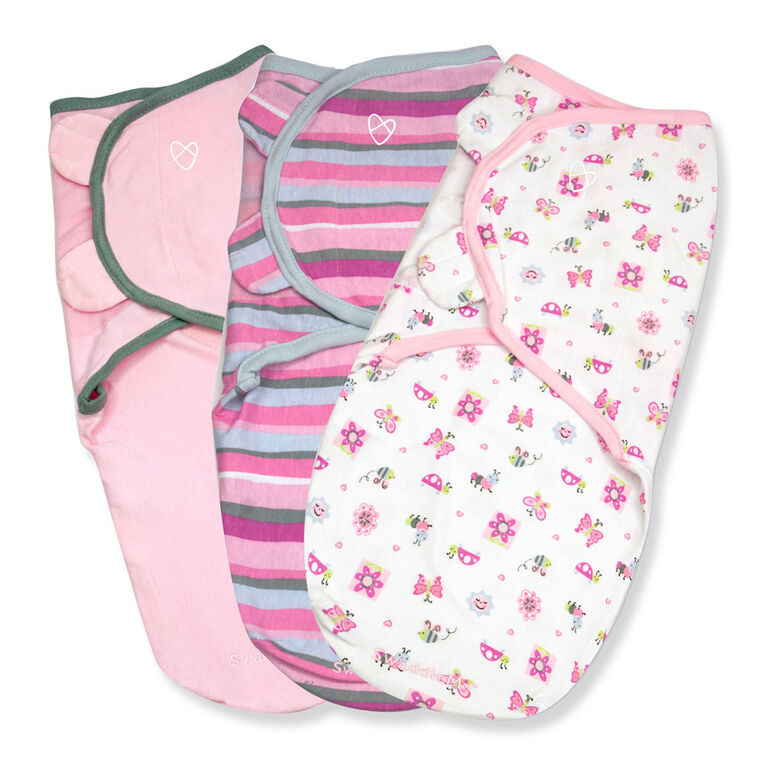 Summer Infant SwaddleMe Original Swaddle - Small/Med - 3 Pack - Bug