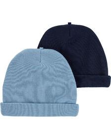 Carter's Emballage de 2 bonnets pour bébé Bleu 0-3 mois