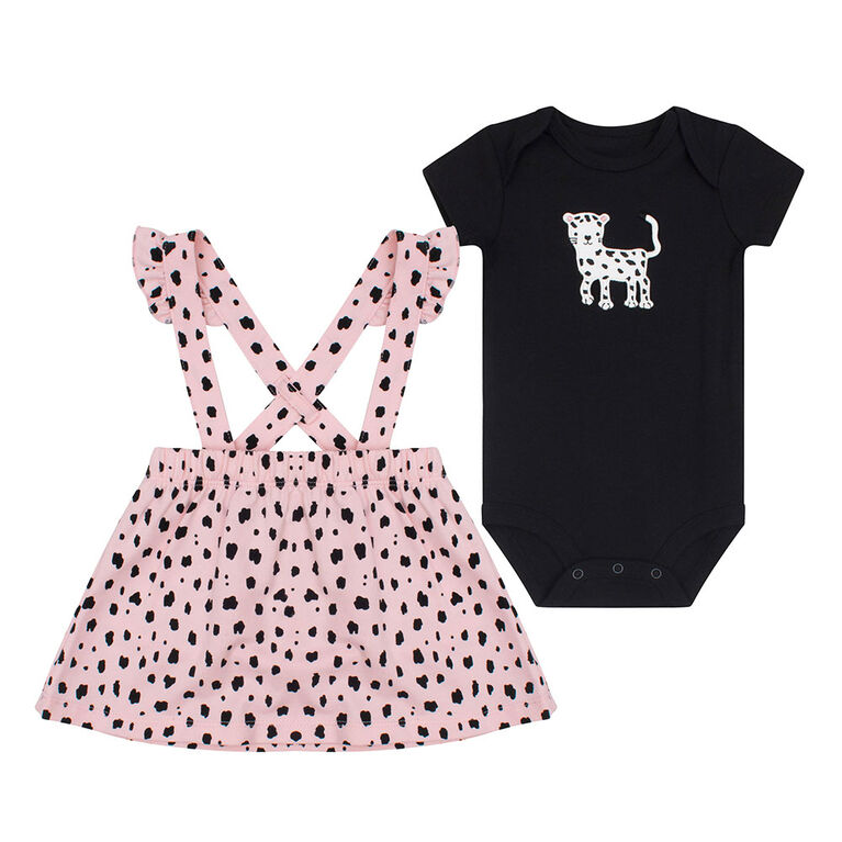 PL Baby Feline Fabulous Overall Set Coral 6M
