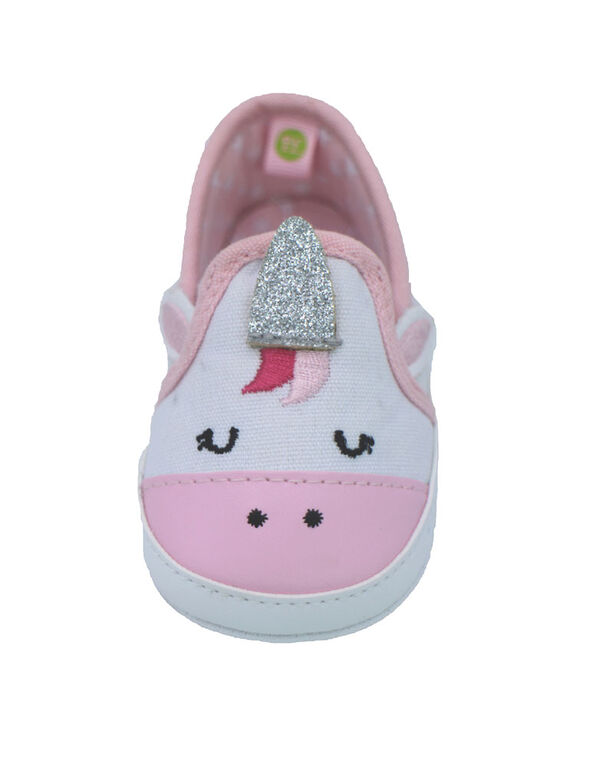 Chaussures en toile licorne blanche de First Steps Taille 1, 0-3 mois - Édition anglaise