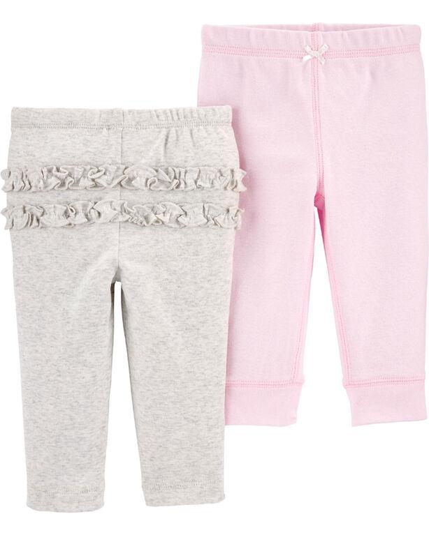 Carter's Emballage de 2 pantalons en coton Assortis 9 mois