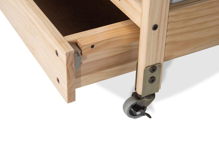 Tiroir compact Next Gen EZ StoreMC de Foundations avec loquet MagnaSafeMC, bois naturel