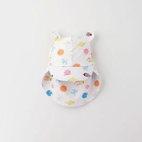 little critter swim hat, s/m - white