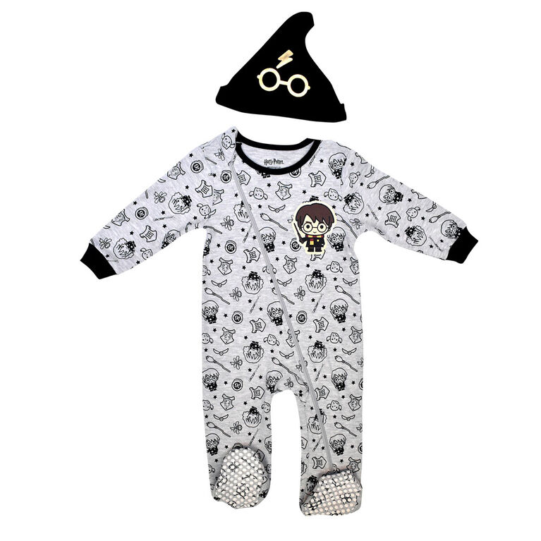 Warner's Harry Potter Sleeper with hat - Grey, 24 Months