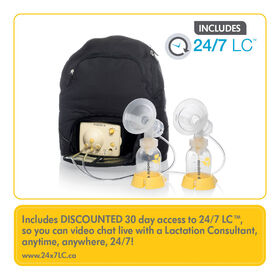 Medela Pump in Style Breastpump Backpack - with BPA-Free Bottles