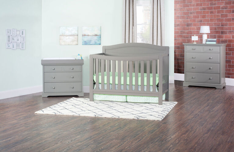 Child Craft Dresden 4 In 1 Convertible Crib Cool Gray