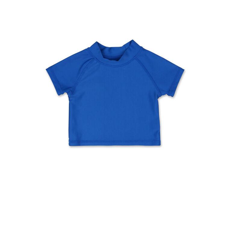 Tee-shirt manches courtes dermoprotecteur Koala Baby bleu cobalt uni