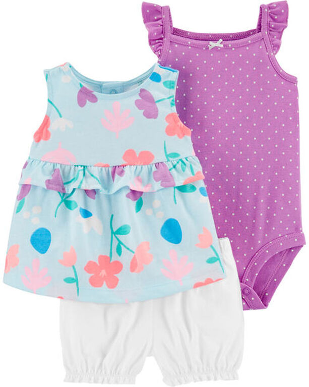Carter's 3 piece Diaper Cover Floral Set -