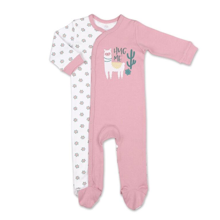 Dormeuse Koala Baby, Pink LLama, 0-3 Mois