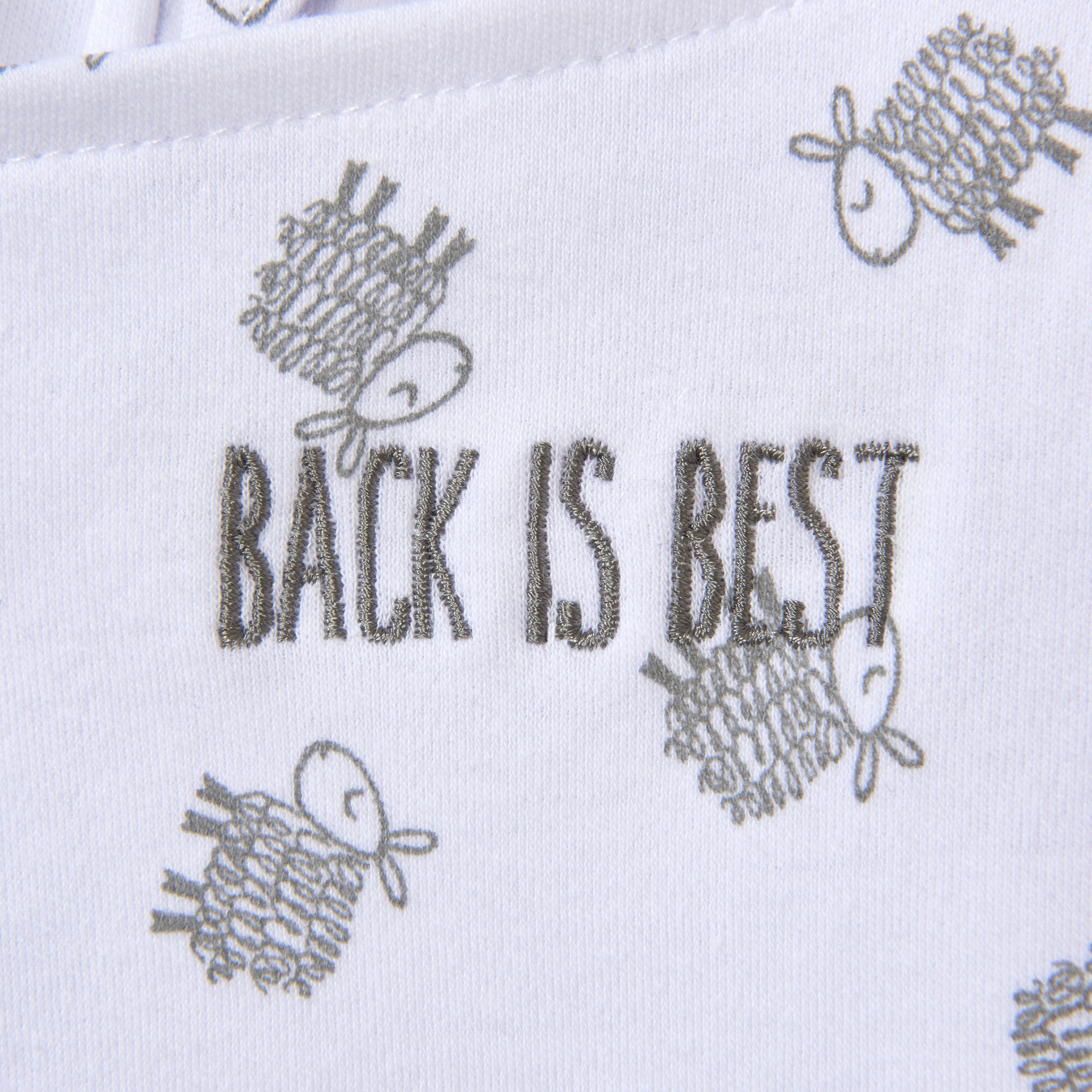 Size NB Newborn Halo Innovations HALO SleepSack Swaddle/ Cotton Lamb Scribble White