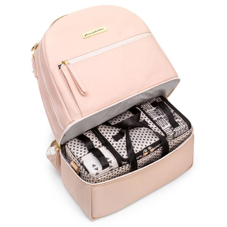 Petunia Pickle Bottom - Axis Backpack in Blush Rose Leathertte - Sac à langer Sac à dos - Bébé, nourrisson, enfant en bas âge