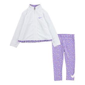 Nike Tricot Legging set Purple, Size 6