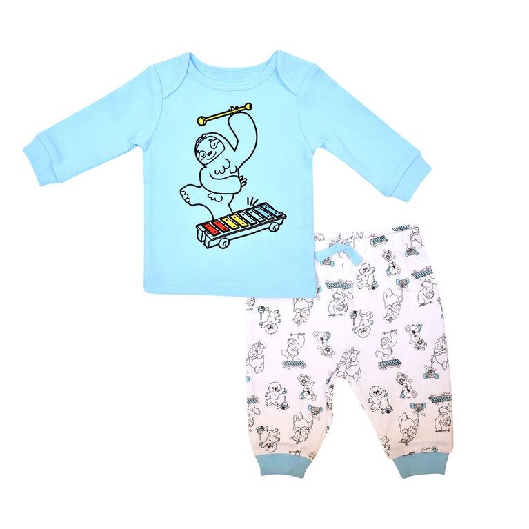 Fisher Price 2piece Pant set - Blue, 12 months