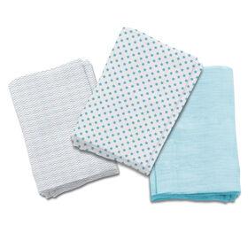 Summer Infant SwaddleMe Premium Muslin Swaddle Blankets - Follow the Heart Blue