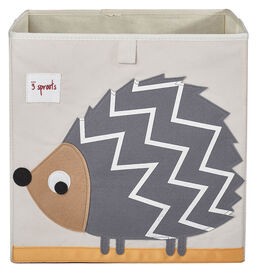 3 Sprouts Storage Box Hedgehog - Grey