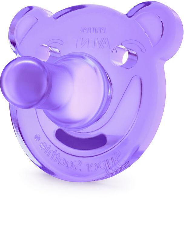 Philips AVENT Suce SoothieShapes à 3m+, Orthodontiques et sans BPA, Paquet de 2 - rose/violet.